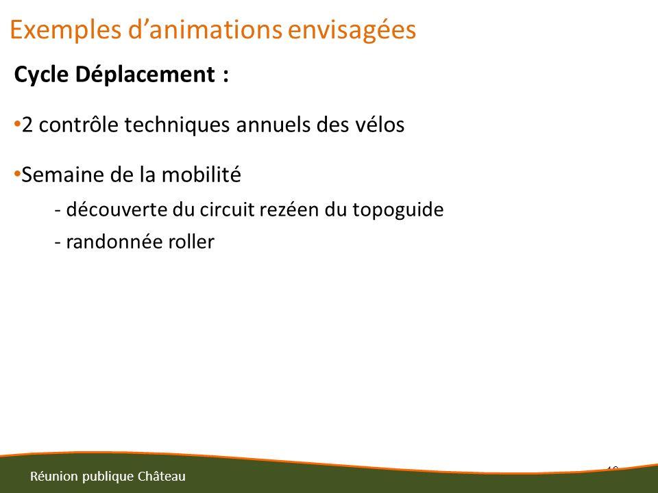 19 Réunion publique Château Cycle Déplacement : 2 contrôle techniques annuels des vélos Semaine de la mobilité - découverte du circuit rezéen du topog
