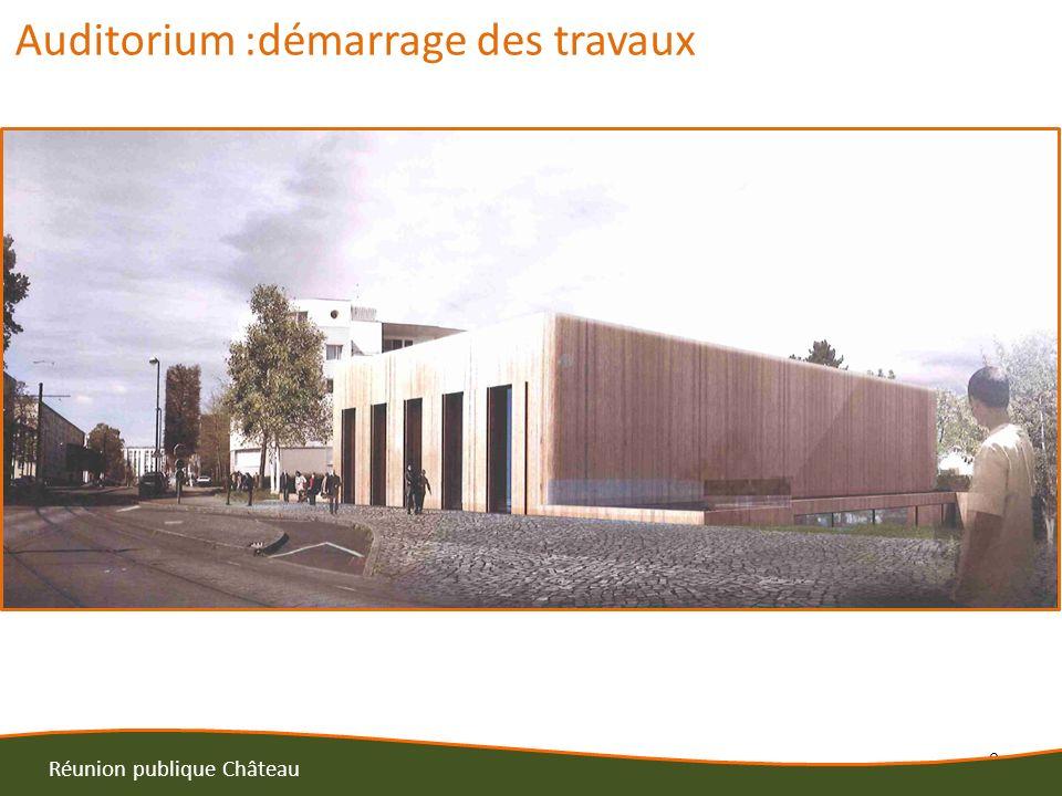6 Réunion publique Château Auditorium :démarrage des travaux