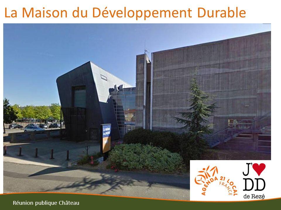 10 Réunion publique Château Septembre 2013 Ouverture de la maison du développement Durable Intégrée au programme de la semaine de la mobilité Intégrée à la programmation de « Nantes Capitale verte européenne 2013 »