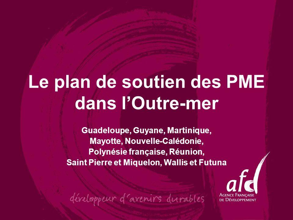 Le plan de soutien des PME dans lOutre-mer Guadeloupe, Guyane, Martinique, Mayotte, Nouvelle-Calédonie, Polynésie française, Réunion, Saint Pierre et