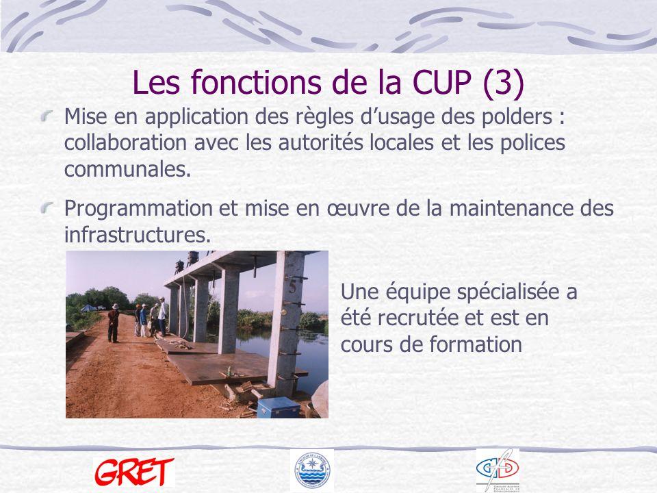 Organisation de la CUP CA CB … MOWRAM PA Local authorities (communes, district)