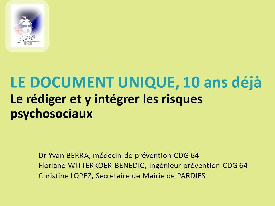 Dr Yvan BERRA, médecin de prévention CDG 64 Floriane WITTERKOER-BENEDIC, ingénieur prévention CDG 64 Christine LOPEZ, Secrétaire de Mairie de PARDIES