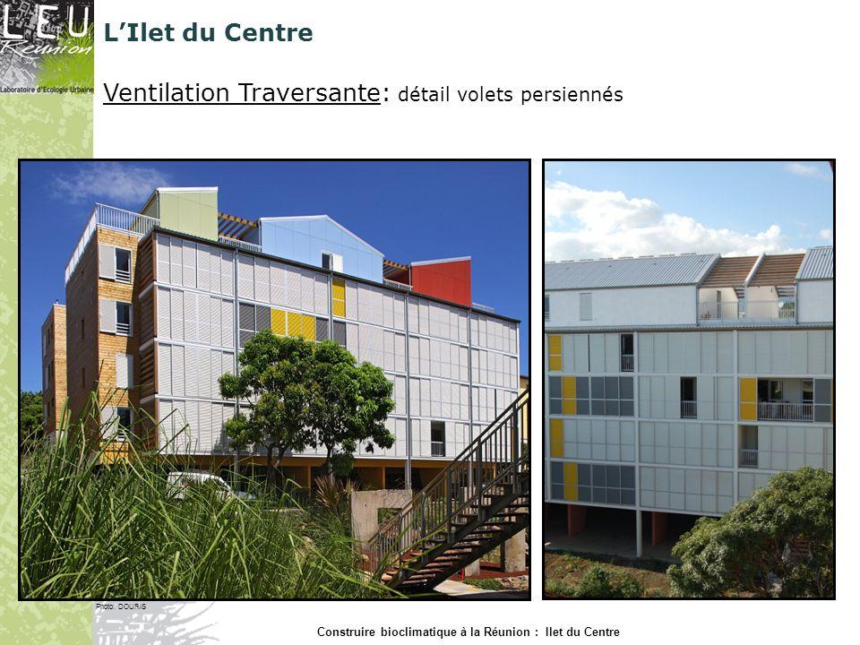 LIlet du Centre Protection solaire: doubles peaux ventilées bois sur façades béton Photo: DOURIS Construire bioclimatique à la Réunion : Ilet du Centre
