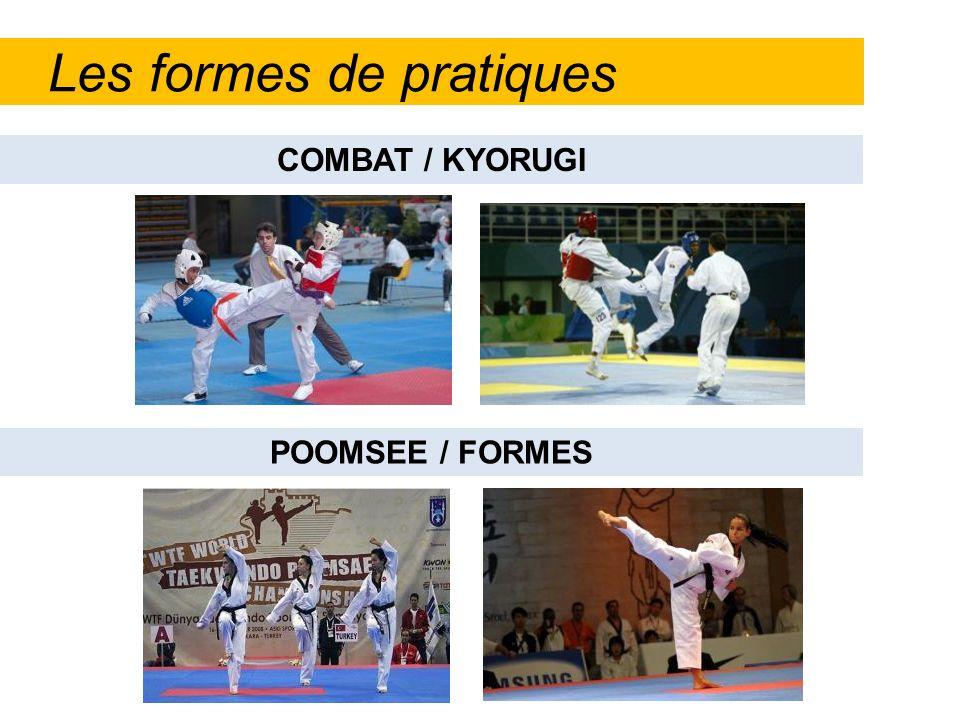 Les formes de pratiques POOMSEE / FORMES COMBAT / KYORUGI