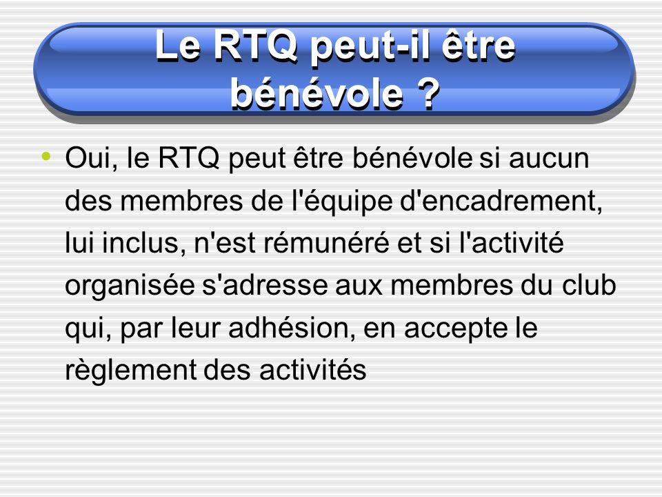 Quand le RTQ doit-il être titulaire d un diplôme d Etat.