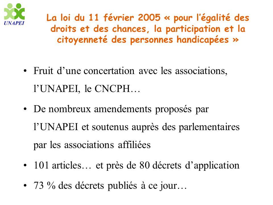 La loi du 11 février 2005 « pour légalité des droits et des chances, la participation et la citoyenneté des personnes handicapées » Fruit dune concert