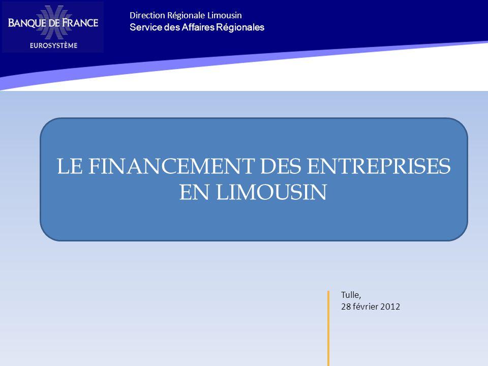 Tulle, 28 février 2012 Ceci est le titre principal du diaporama il sert à simuler lemplacement du bloc Direction Régionale Limousin Service des Affair