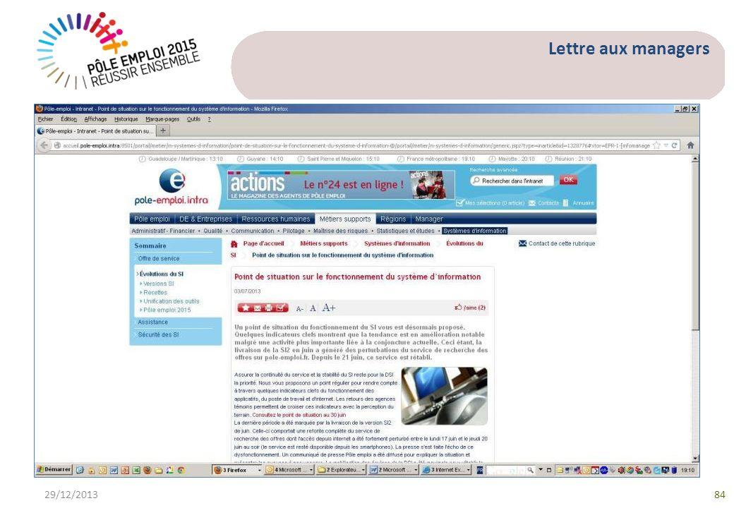 Lettre aux managers 29/12/201384