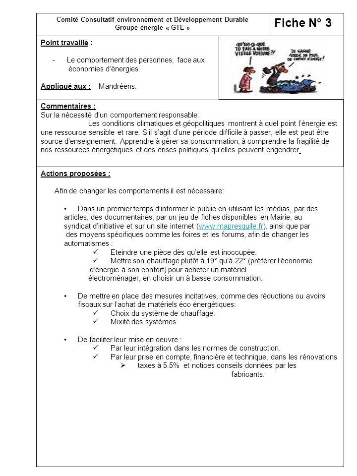 FICHES D INFORMATIONS VOIR « EN FIN DE PRESENTATION » Fiche 1Économie dénergie.