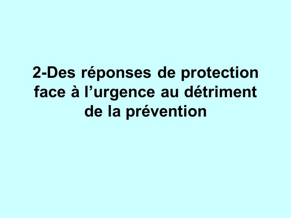 2-Des réponses de protection face à lurgence au détriment de la prévention