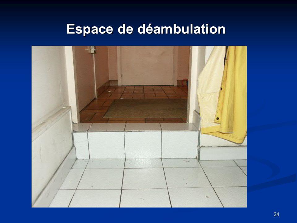 34 Espace de déambulation