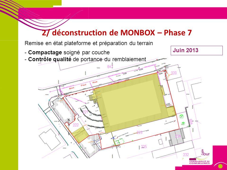 3/ Le projet de construction – phase chantier Entrée chantier Sortie chantier Démarrage des travaux : Décembre 2013 Palissade