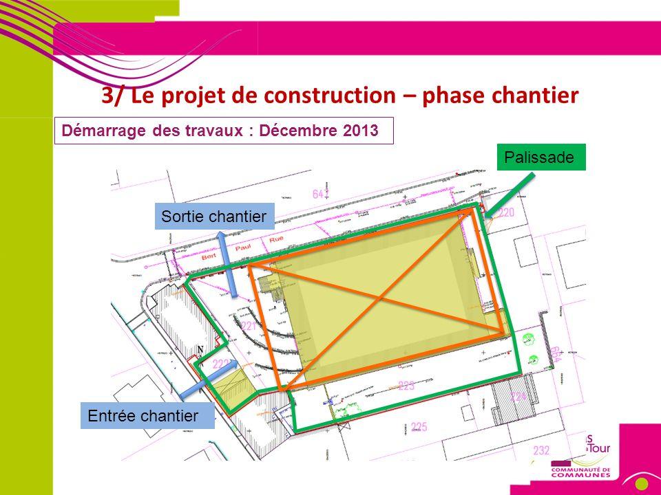 3/ Le projet de construction – rendu final Maison des associations Ouverture des portes : Début 2015 12 Ave Jean Jaures Démolition 2016 Configuration finale: 2017
