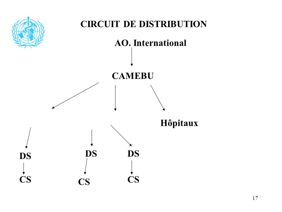 17 AO. International CAMEBU DS Hôpitaux CIRCUIT DE DISTRIBUTION DS CS