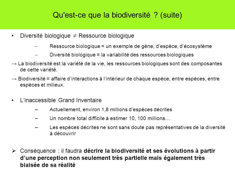 Qu est-ce que la biodiversité .