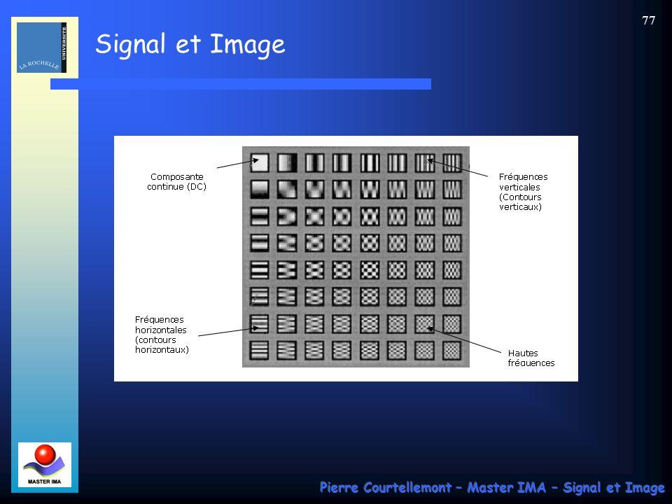 Signal et Image Pierre Courtellemont – Master IMA – Signal et Image 77