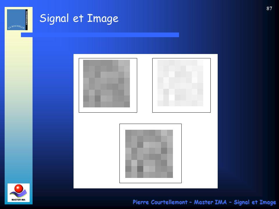Signal et Image Pierre Courtellemont – Master IMA – Signal et Image 87