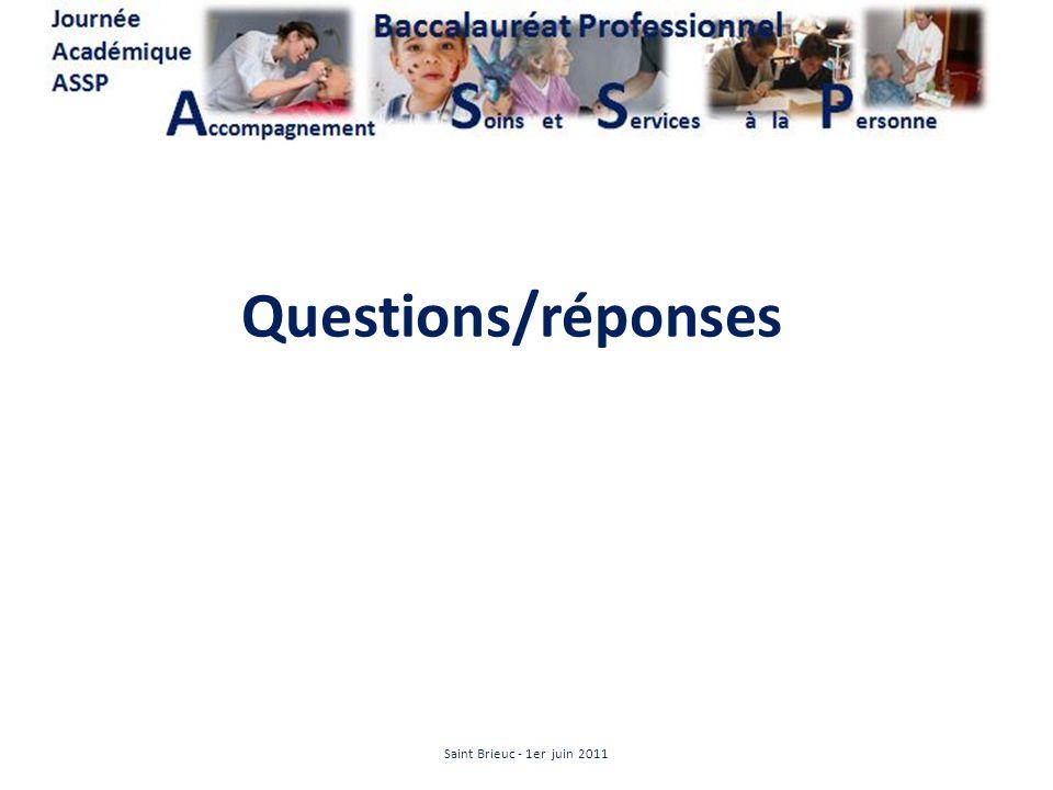 Questions/réponses Saint Brieuc - 1er juin 2011