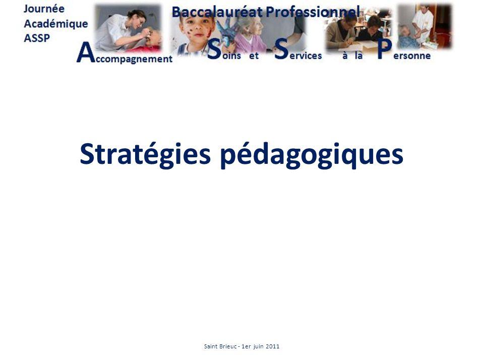 Stratégies pédagogiques Saint Brieuc - 1er juin 2011