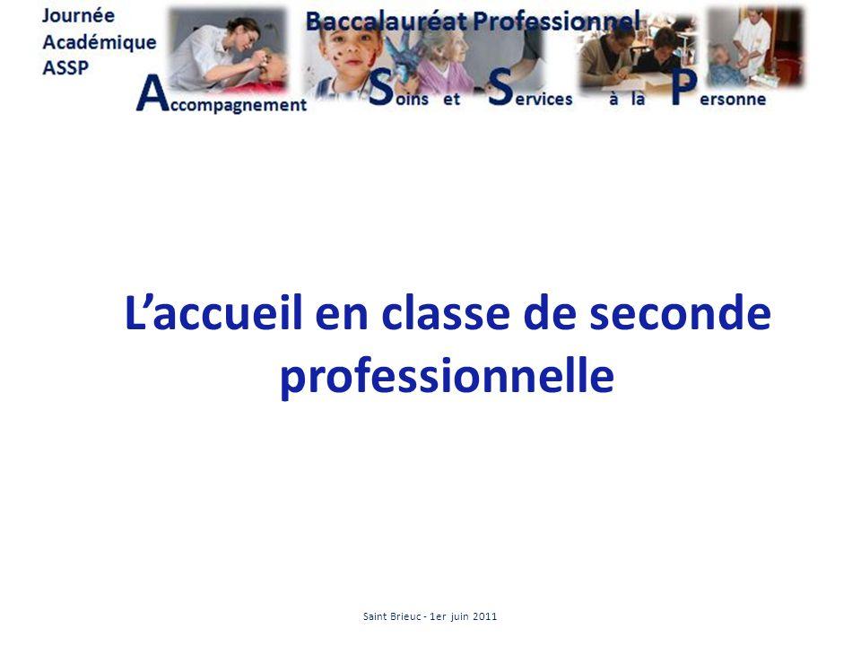 Laccueil en classe de seconde professionnelle Saint Brieuc - 1er juin 2011
