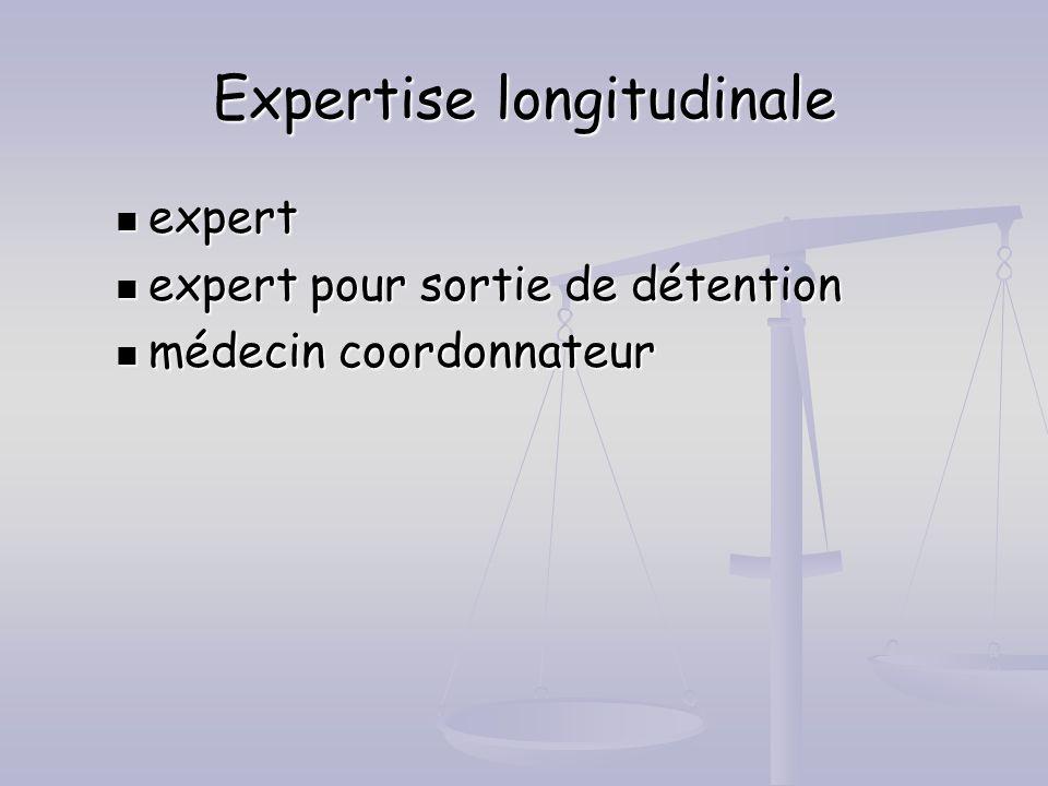 Expertise longitudinale expert expert expert pour sortie de détention expert pour sortie de détention médecin coordonnateur médecin coordonnateur
