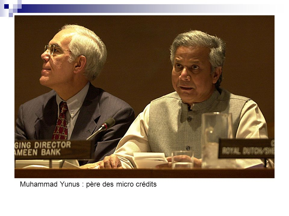 Muhammad Yunus : père des micro crédits