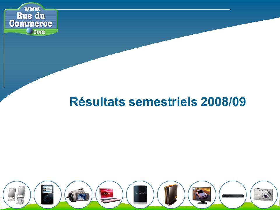 Résultats semestriels 2008/09