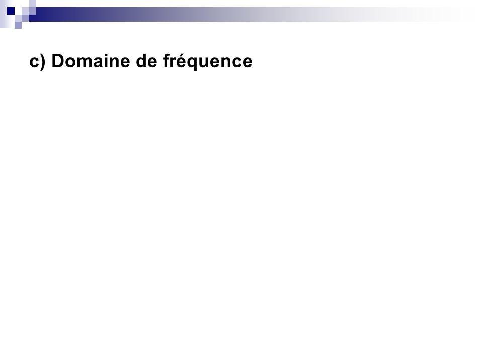c) Domaine de fréquence