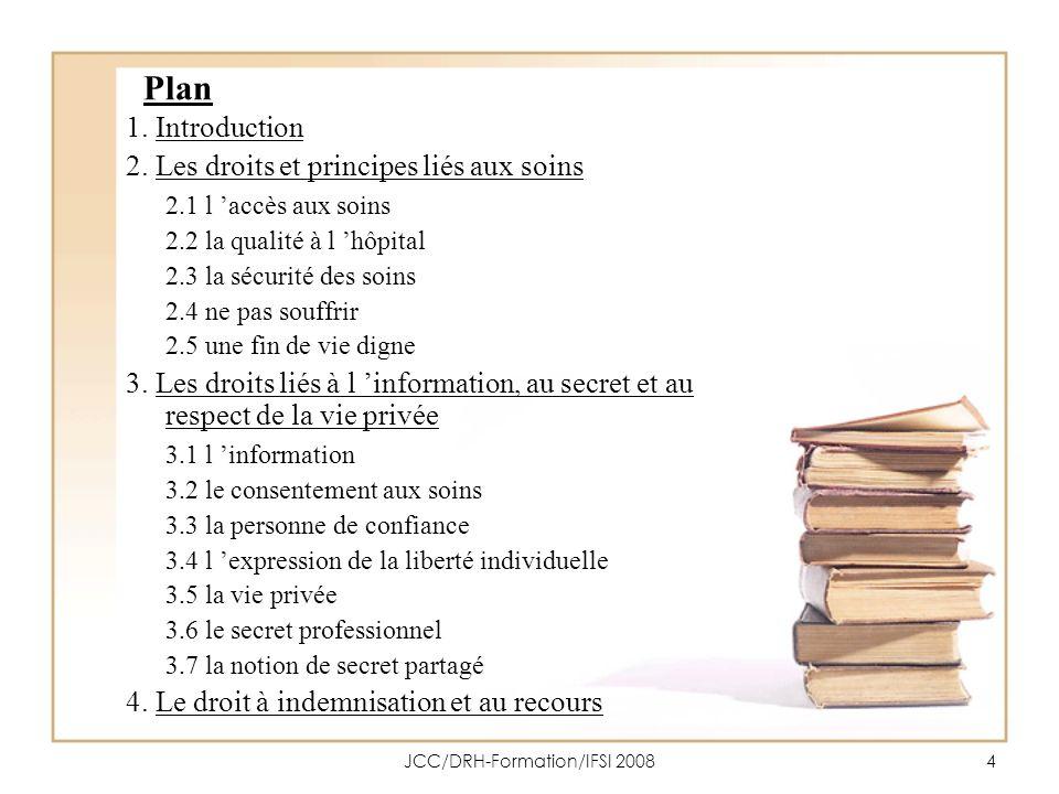 JCC/DRH-Formation/IFSI 200815 2.2 Le droit à la qualité à lhôpital Art.