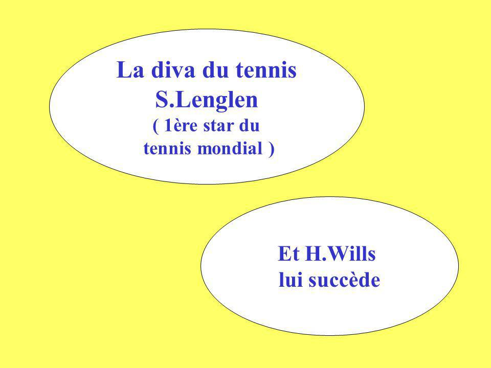 La diva du tennis S.Lenglen ( 1ère star du tennis mondial ) Et H.Wills lui succède