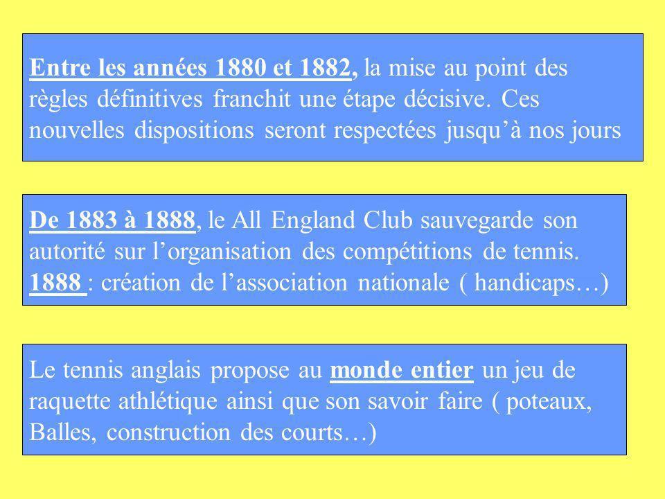 Le premier grand tournoi contrôlé par lUSFSA se déroulera en 1912 au parc de Saint-Cloud Les français sont fiers de sopposer avec ce tournoi sur terre battue à la pelouse de Wimbledon