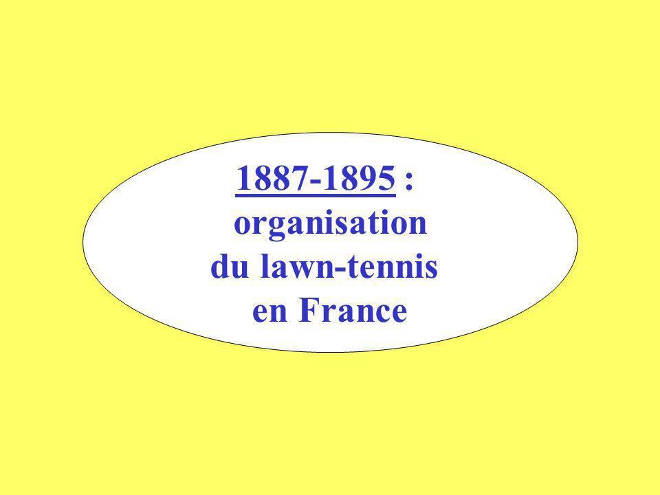 A partir de 1890, le lawn-tennis prend une Place importante au sein du Racing et du Stade Français.