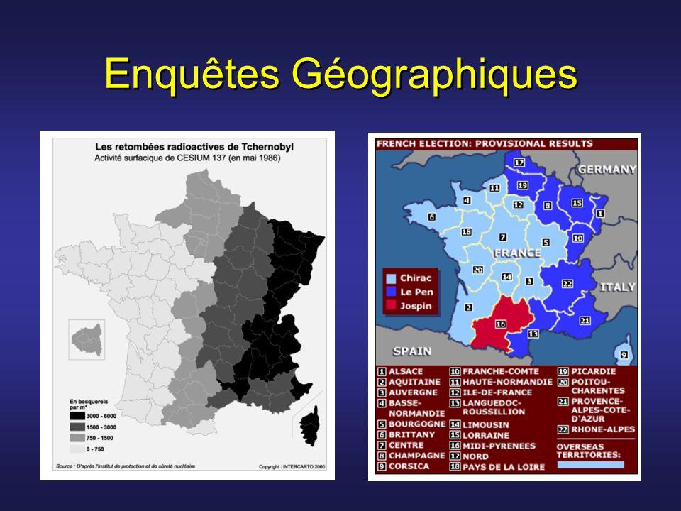 Enquêtes Géographiques