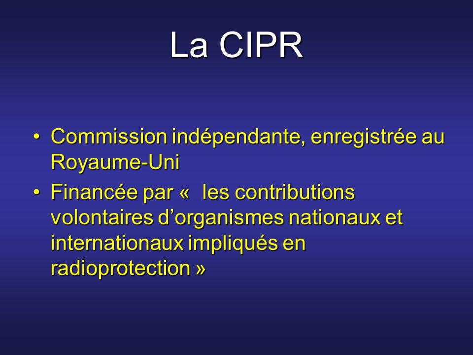 La CIPR Commission indépendante, enregistrée au Royaume-UniCommission indépendante, enregistrée au Royaume-Uni Financée par « les contributions volont