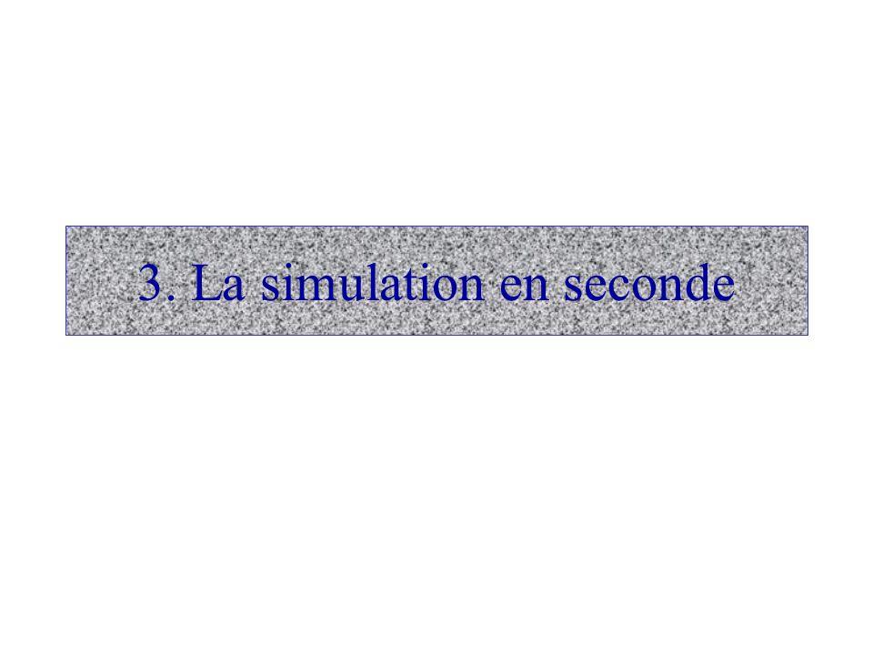 3. La simulation en seconde