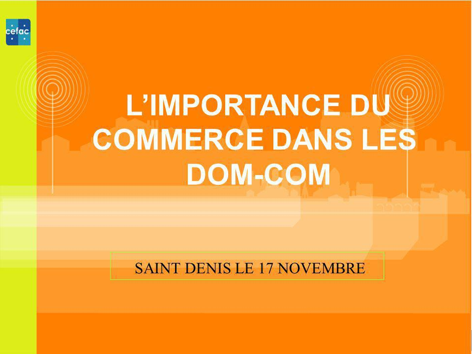 LIMPORTANCE DU COMMERCE DANS LES DOM-COM SAINT DENIS LE 17 NOVEMBRE
