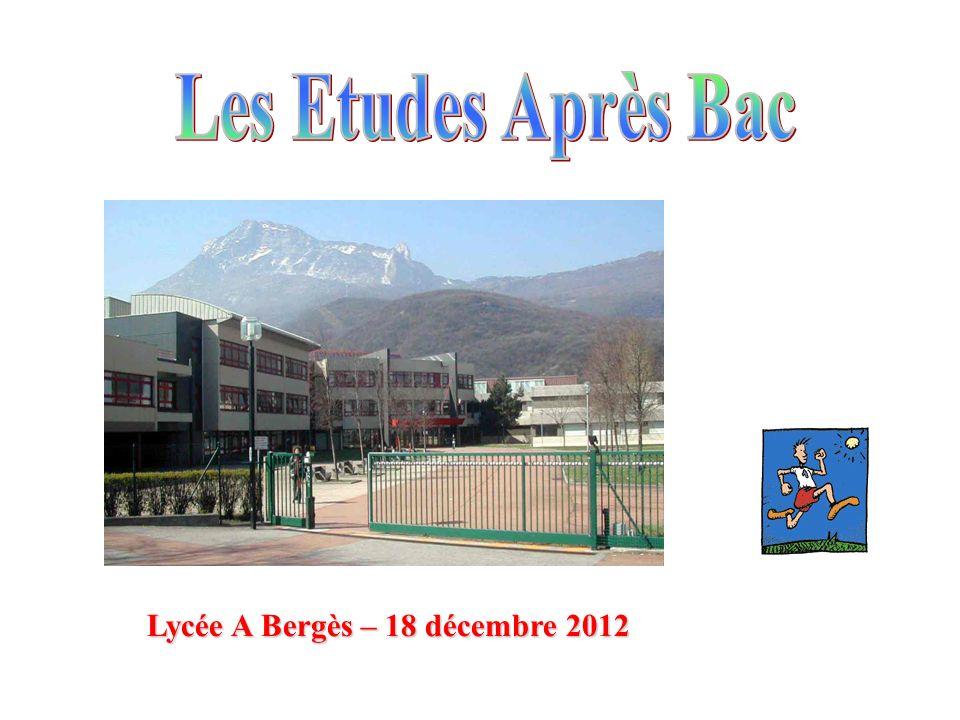 Lycée A Bergès – 18 décembre 2012