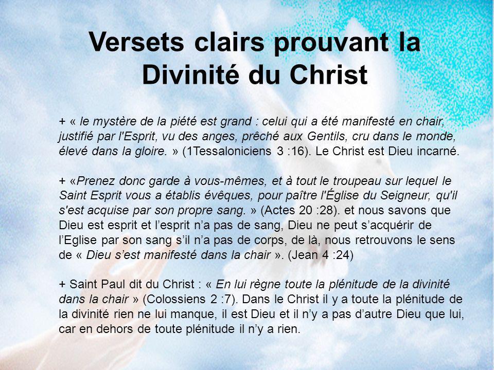 Son pouvoir sur la nature : Le Christ commandait et il était exaucé, comme détenteur de pouvoir, ce qui prouve sa divinité.