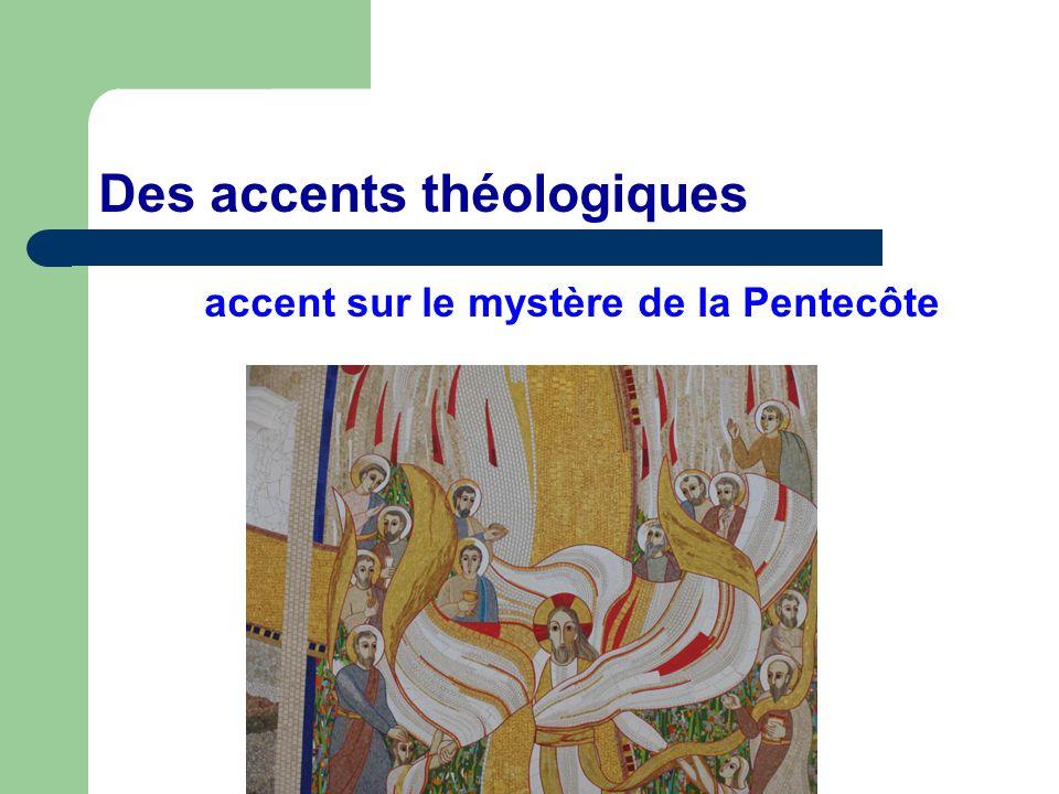 Des accents théologiques accent sur le mystère de la Pentecôte
