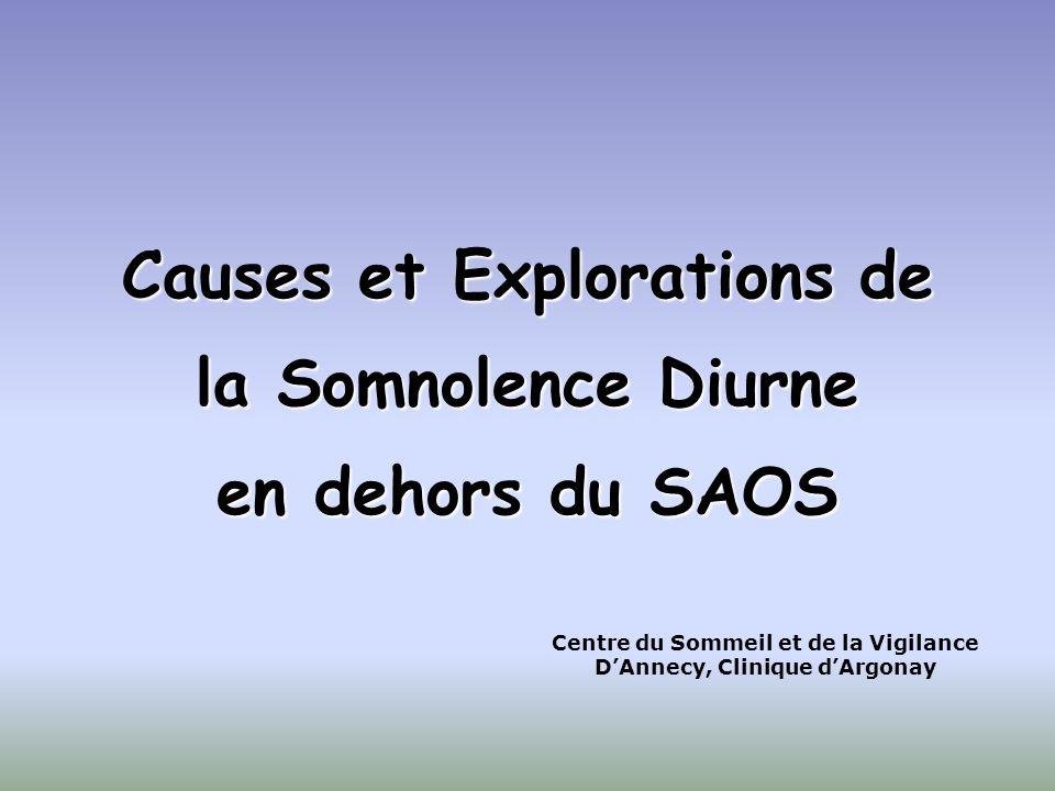 Causes et Explorations de la Somnolence Diurne en dehors du SAOS Centre du Sommeil et de la Vigilance DAnnecy, Clinique dArgonay