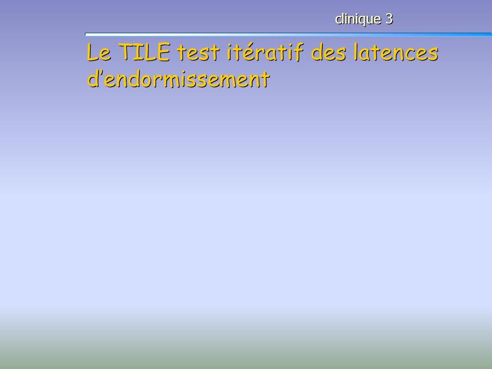 Le TILE test itératif des latences dendormissement clinique 3