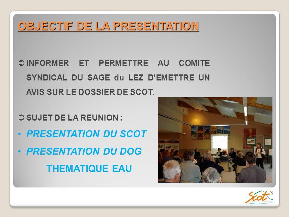 1.Introduction ; 2. Le périmètre et le PADD du SCoT ; 3.