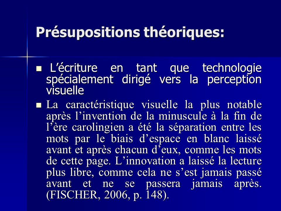 Présupositions théoriques: Lécriture en tant que technologie spécialement dirigé vers la perception visuelle Lécriture en tant que technologie spécial