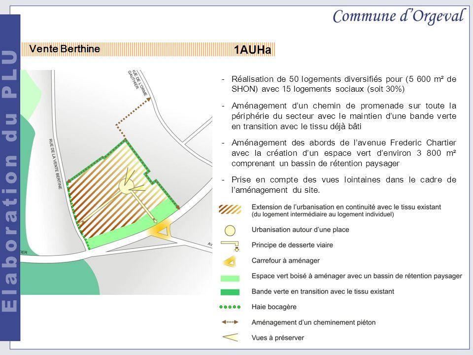 -Réalisation de 50 logements diversifiés pour (5 600 m² de SHON) avec 15 logements sociaux (soit 30%) -Aménagement dun chemin de promenade sur toute la périphérie du secteur avec le maintien dune bande verte en transition avec le tissu déjà bâti -Aménagement des abords de lavenue Frederic Chartier avec la création dun espace vert denviron 3 800 m² comprenant un bassin de rétention paysager -Prise en compte des vues lointaines dans le cadre de laménagement du site.