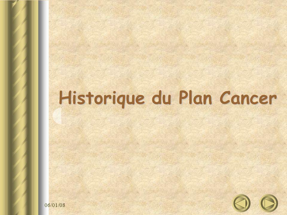 06/01/08 Historique du Plan Cancer