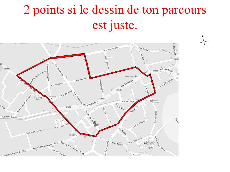 N S E O Colorie le chemin que nous allons prendre : /2 2 points si le dessin de ton parcours est juste.