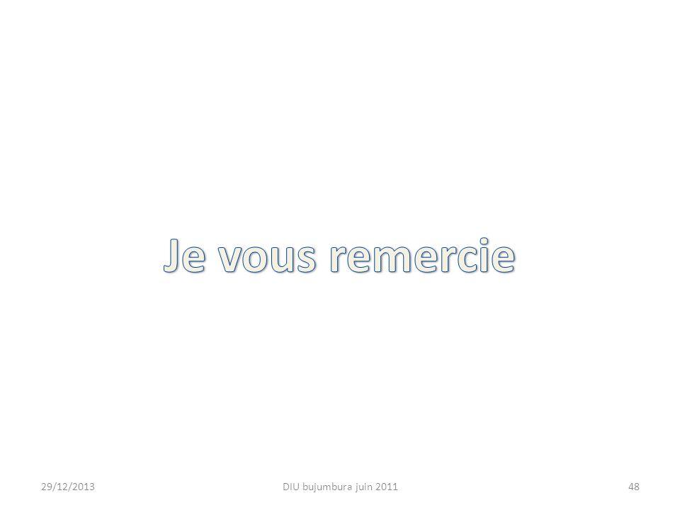 29/12/2013DIU bujumbura juin 201148