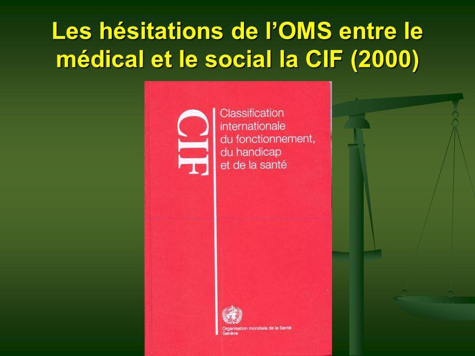 Les hésitations de lOMS entre le médical et le social la CIF (2000)