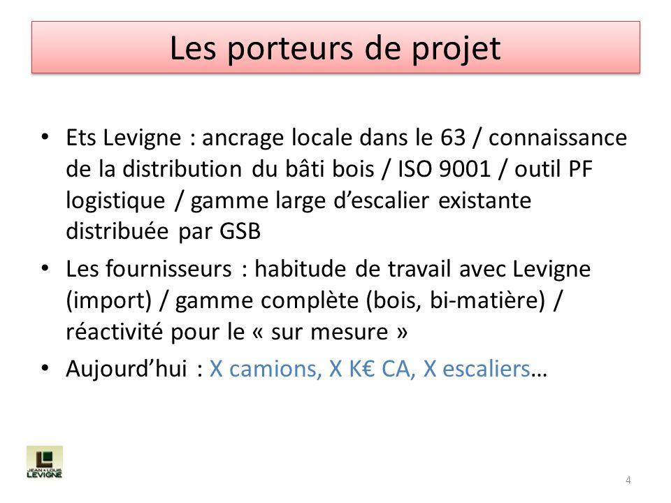 Ets Levigne : ancrage locale dans le 63 / connaissance de la distribution du bâti bois / ISO 9001 / outil PF logistique / gamme large descalier exista