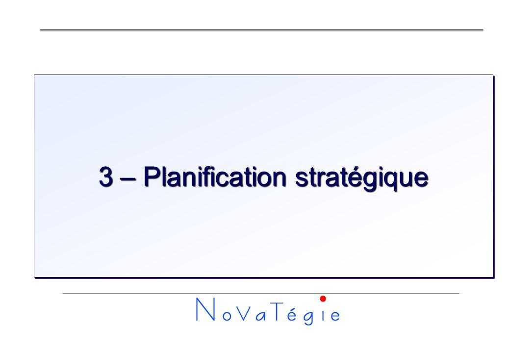 3 – Planification stratégique